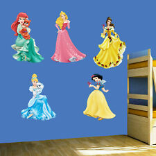 Princess Wall Art Stickers Mural Decal Ariel Belle Snow White Aurora 5 Piece Set