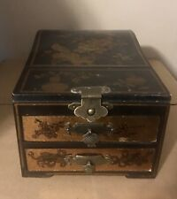 Wooden Jewelry Box (Vintage-look), with Drawers and Mirror (NEW/Never Used)