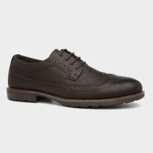 STONE CREEK LOGAN BROGUE MENS BROWN LACE UP SHOE NOW ONLY £17.99