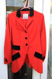 Vintage Moschino Cheap And Chic Red Riding Jacket 80s 90s UK10