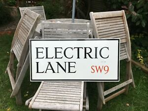 ORIGINAL ENAMEL LONDON STREET ROAD SIGN ELECTRIC LANE BRIXTON SW9  NOT AVENUE