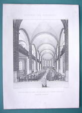 ARCHITECTURE PRINT 1878: FRANCE Church of St Martin at Noeux-les-Mines Interior