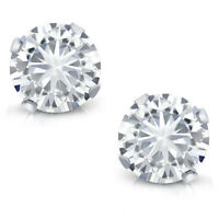 14K White Gold Charles & Colvard Created Moissanite Stud Earrings (0.66 Cttw)