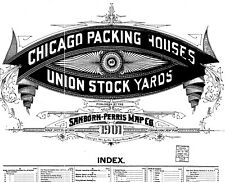 Chicago, Illnoise~Sanborn Map© shees of stock yard Now In Full Color on Cd