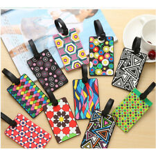 Colorful Patterned Fashion Luggage Tags Holiday Suitcase Labels Travel Bag ID