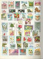 Blumen Pflanzen Flowers Flores Lot Briefmarken Sellos Stamps Timbres