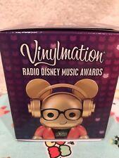 "DISNEY VINYLMATION 3"" radio Disney awards GOLD  MICKEY MOUSE COLLECTIBLE vinyl"