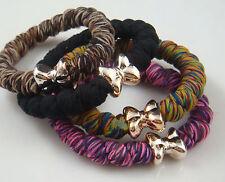 3pcs Women elastic hair ties Scrunchie Ponytail Holder Hair Accessorie cq1E