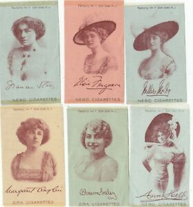 6 ATC tobacco silks  Actresses