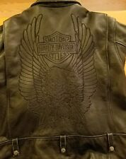HARLEY DAVIDSON EAGLE  LEATHER JACKET  2XL XXL