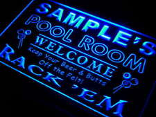 py-tm Name Personalized Custom Pool Room Rack 'em Bar Beer Neon Light Sign