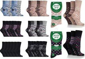 Gentle Grip Women Ladies Breathable Loose Soft Top Non Elastic Bamboo Socks Lot