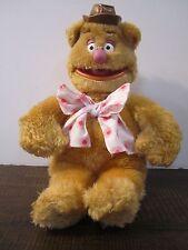 Fozzy Bear Muppets Plush Vintage tie hat funny woka woka