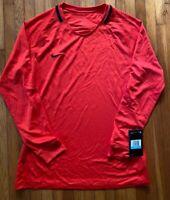 Nike Womens Soccer Jersey Longsleeve Red Training Size M