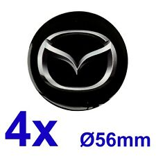 4pcs set MAZDA Silicone Stickers for Wheel Centre Cap Hubs 56mm