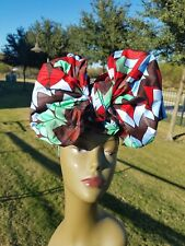Black And Red Headwrap;African Headwrap; African Clothing; African Fabric