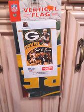 """NFL Green Bay Packers Vertical Flag, Hall of Famer Brett Favre, 27"""" x 37"""" (78)"""