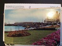 T2-1 postcard used 1961 parade gardens walton on the naze