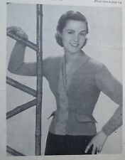 Vintage 1940s Weldon's knitting book original patterns women's Jumpers Cardigans