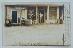 c1907-1915 RPPC Postcard Orson, PA F.A. Tiffany General Store LeRoy Plows Signs