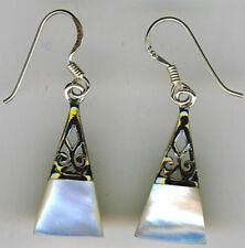 Mother of Pearl & Abalone Pearl Sterling Silver Fine Earrings