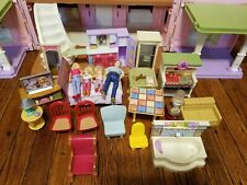 VINTAGE FISHER PRICE LOVING FAMILY DOLL HOUSE FURNITURE AND FIGURE