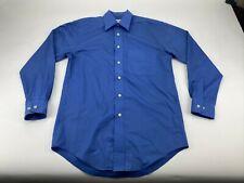 "YSL Yves Saint Laurent Blue Long Sleeve Shirt   Adult Size 14.5"" Small S"
