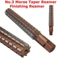 MT3 No.3 Morse Taper Reamer Finishing Reamer Alloy Steel Lathe Milling Tool