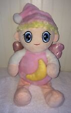 "Kellytoy Pink Fairy Plush Yellow Moon Stuffed Toy Doll Sugarloaf 17"" 2014 Wings"