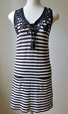 Sonia Rykiel Black & White Striped Sundress Size 40