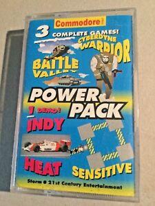 Commodore 'Cyberdyne, Warrior & Battle Valley' Classic computer cassette.