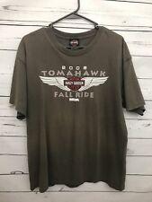 Harley Davidson Large Men's Shirt 2009 Tomahawk Fall Ride