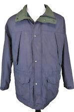 Vintage Woolrich Mens Parka Jacket Size Large Wool Lined Blue Plaid Full Zip