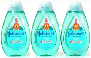 (3 Bottles) Johnson's No More Tears Cleanses & Unlocks Tangles Shampoo 13.6 Oz