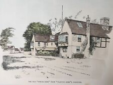 1902 Antique Print;  White Hart / Clayton Arms, Godstone near Reigate, Surrey