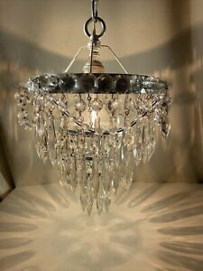 Vintage Crystal Petite Chandelier And Spikes