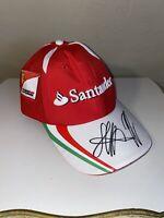 EUC Santander Scuderia Ferrari Germany AUTOGRAPH Puma Red Hat Cap One Size
