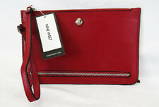 NINE WEST TABLE TREASURES ALEKSEI Ruby Red Leather Wristlet Msrp $30.00