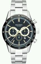 Sekonda Men's Black Dial Chronograph Bracelet Watch. 1167.27.