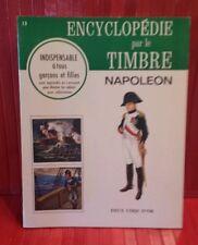 vintage 1968 Encyclopédie par le Timbre.  # 13 .  Napoléon . sticker book