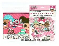 LOL Surprise Doll Plastic Table Cover Cloth + Birthday Party Banner Decoration