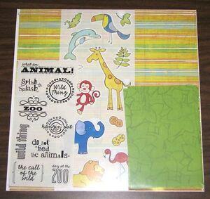 Creative Memories 12 x 12 Primary Album Kit - ZOO Animals