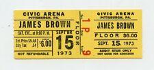 James Brown 1973 Civic Arena Pittsburgh Concert Ticket Stub