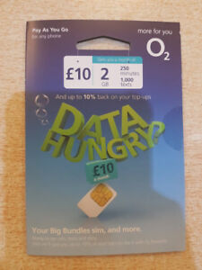 O2 TRIO SIM CARD - RETAIL PACKED & SEALED - FAST POSTAGE