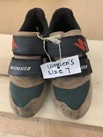 1069-a Womens Specialized Mountain Bike Cycling Shoes Size 7 or 39 Tan Black