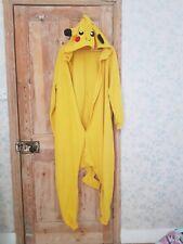 Pikachu kigurumi bodysuit adult