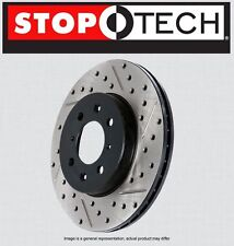 REAR [LEFT & RIGHT] STOPTECH SportStop Drilled Slotted Brake Rotors STR35024