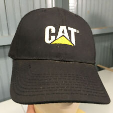 9007a12862cde CAT Caterpillar Black USA Cotton Strapback Baseball Hat Cap