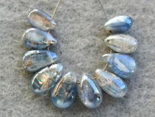 Natural Blue Kyanite Smooth Double Polish Pear Briolette Gemstone Beads