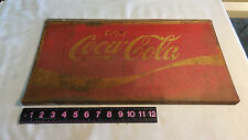 Enjoy Coca Cola Sign Display Rack Topper or Metal Sign 19 X 10 INCHES